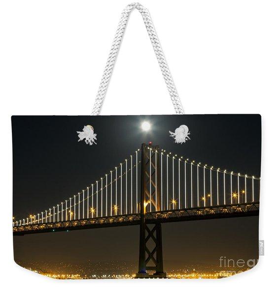 Moon Atop The Bridge Weekender Tote Bag