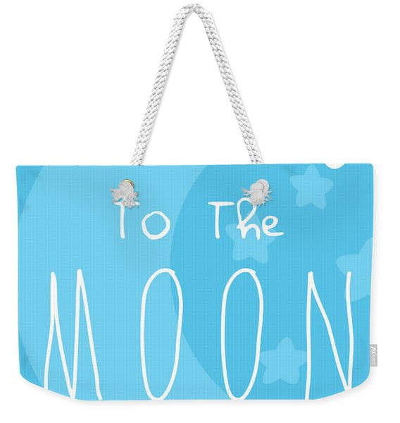 Moon Blue Weekender Tote Bag