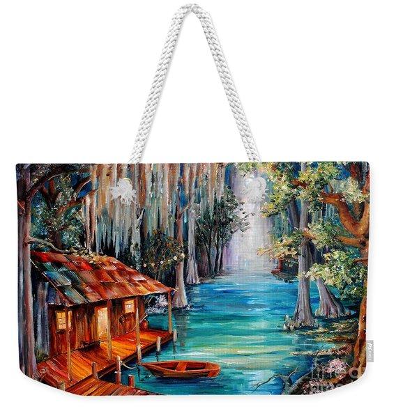 Moon On The Bayou Weekender Tote Bag