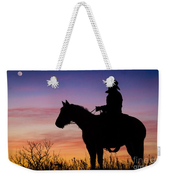 Moon On The Range Weekender Tote Bag