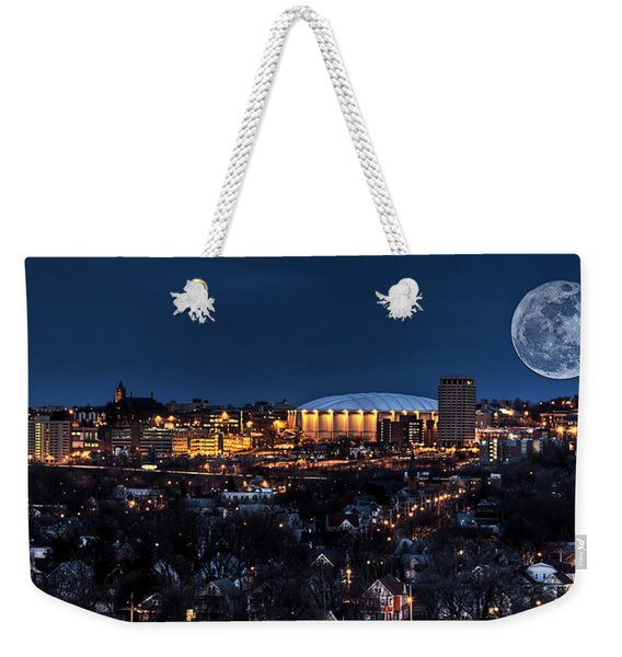 Moon Over The Carrier Dome Weekender Tote Bag