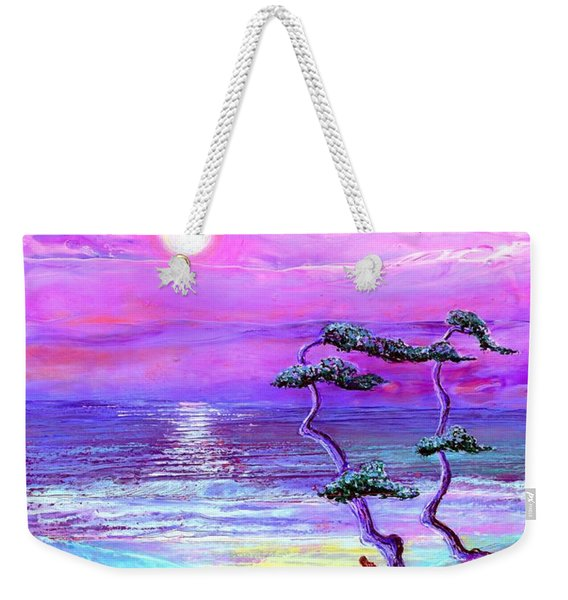 Moon Pathway,seascape Weekender Tote Bag