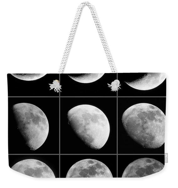 Moon Progression Weekender Tote Bag