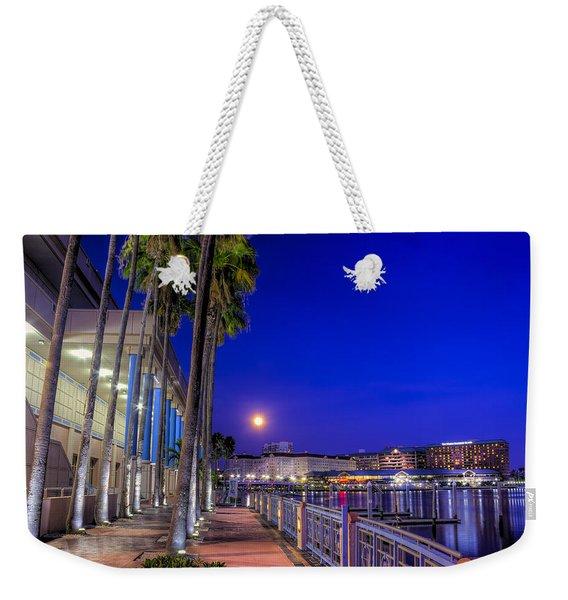 Moon Rise Over Harbor Island Weekender Tote Bag