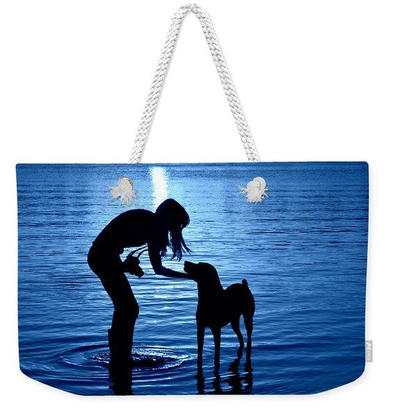 Moon Shadow Weekender Tote Bag