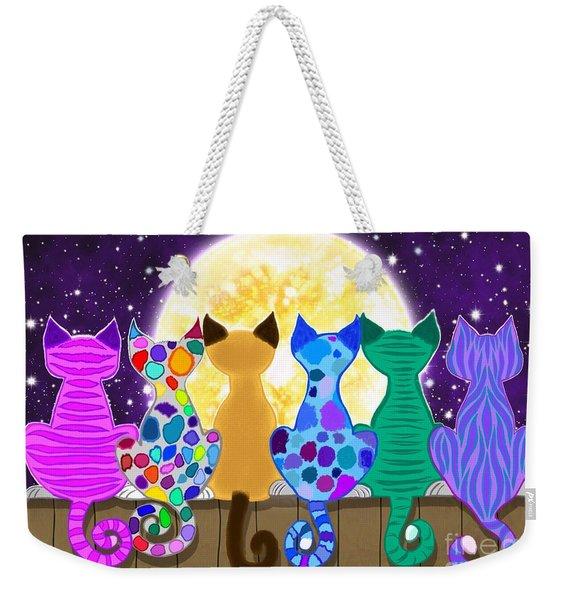 Moon Shadow Meow Weekender Tote Bag