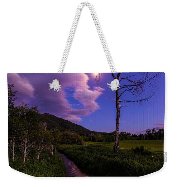 Moonlight Meadow Weekender Tote Bag