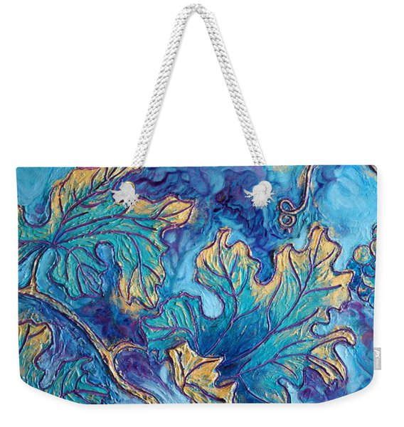 Weekender Tote Bag featuring the painting Moonlight On The Vine by Sandi Whetzel