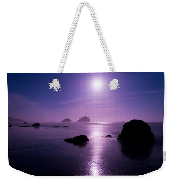 Moonlight Reflection Weekender Tote Bag