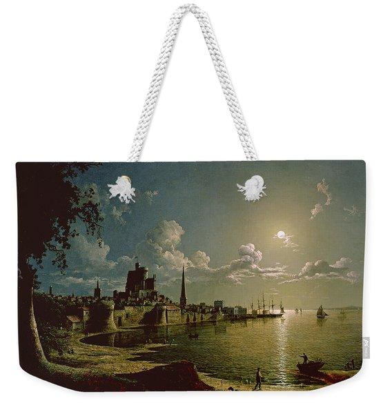 Moonlight Scene, Southampton, 1820 Weekender Tote Bag