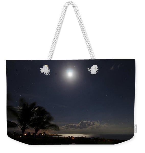 Moonlit Bay Weekender Tote Bag