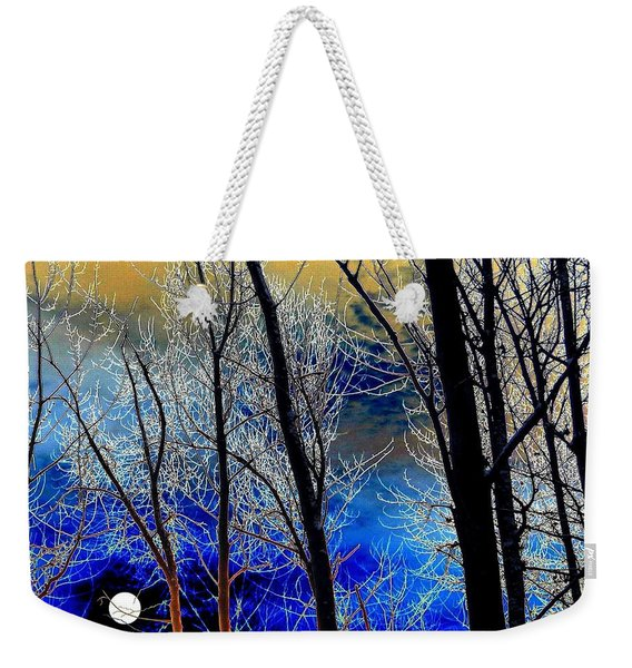 Moonlit Frosty Limbs Weekender Tote Bag