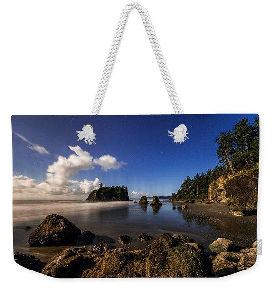 Moonlit Ruby Weekender Tote Bag