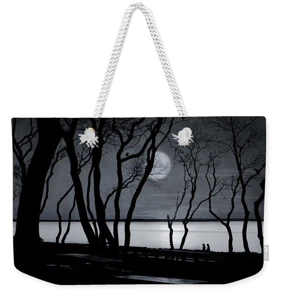 Moonlit Stroll Weekender Tote Bag