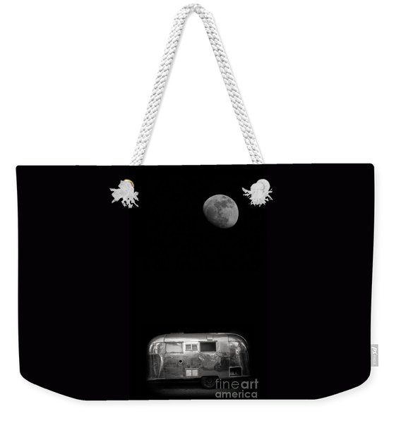 Moonrise Over Airstream Weekender Tote Bag