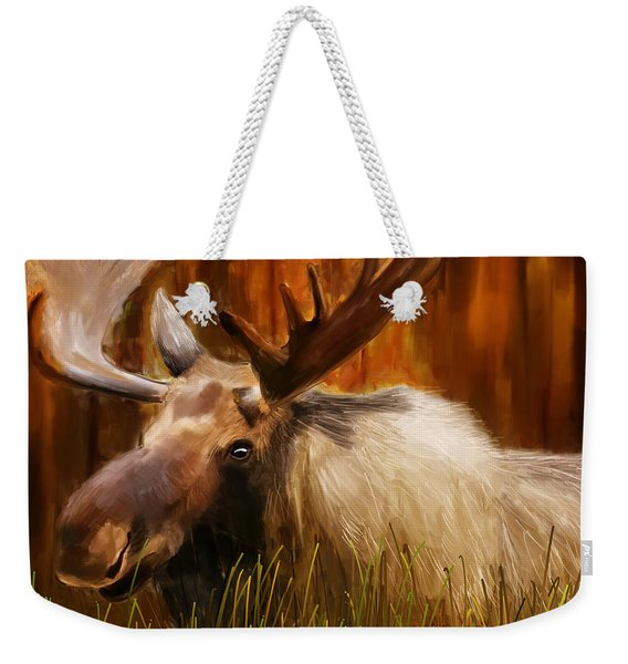 Moose Solitude Weekender Tote Bag