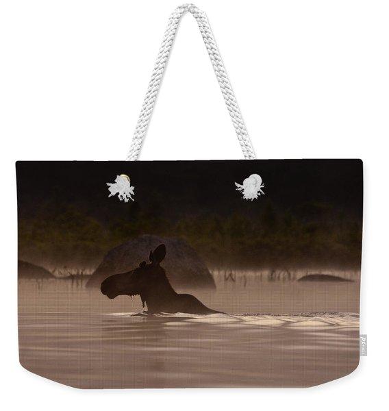 Moose Swim Weekender Tote Bag