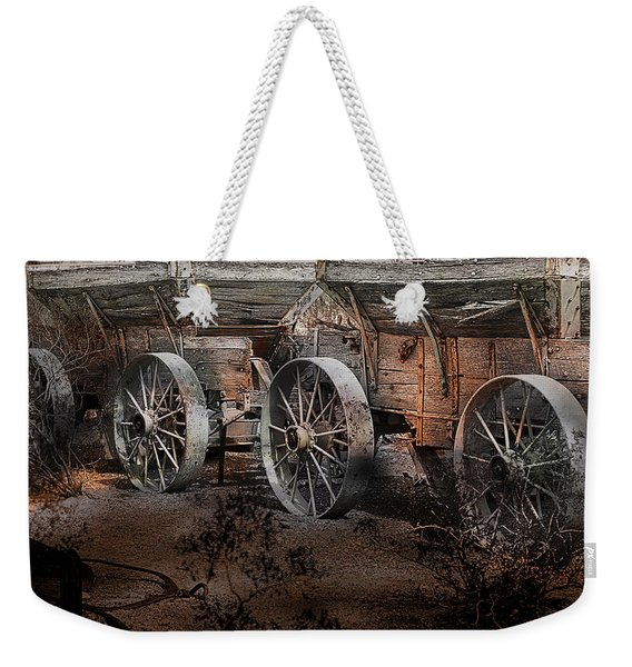 More Wagons East Weekender Tote Bag