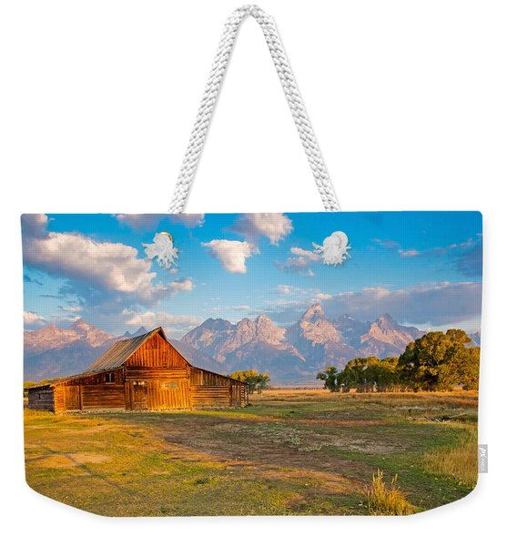 Mormon Row And The Grand Teton Weekender Tote Bag