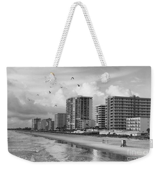 Morning At Daytona Beach Weekender Tote Bag