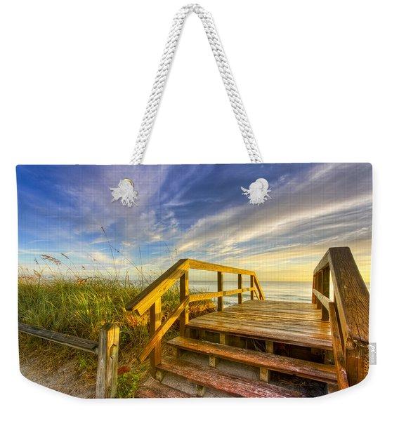 Morning Beach Walk Weekender Tote Bag