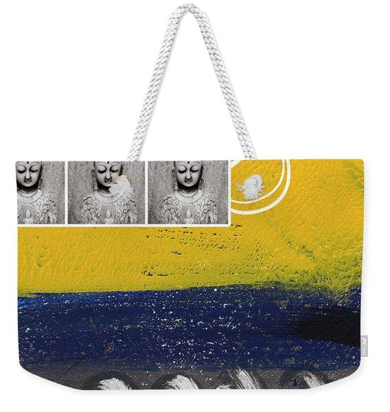 Morning Buddha Weekender Tote Bag