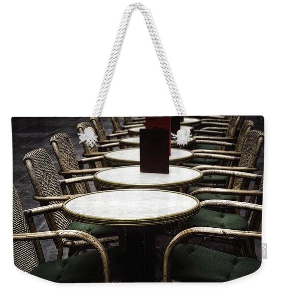 Morning Cafe Weekender Tote Bag