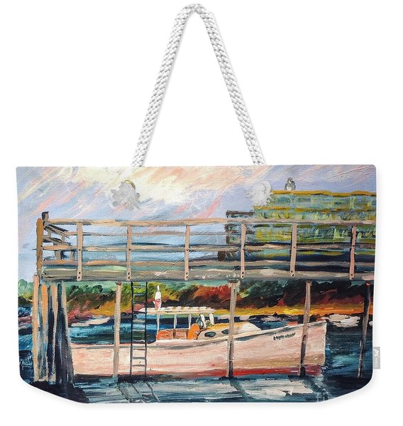Morning Cape Porpoise Weekender Tote Bag