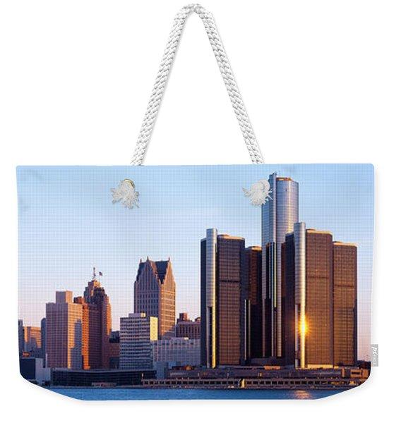 Morning, Detroit, Michigan, Usa Weekender Tote Bag