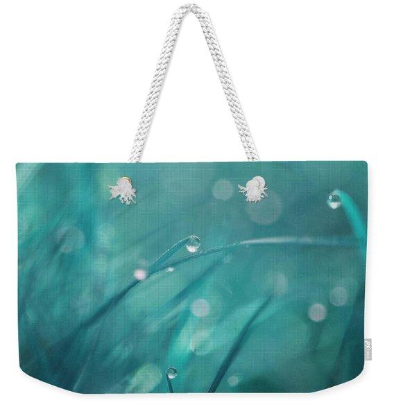 Morning Droplets Weekender Tote Bag