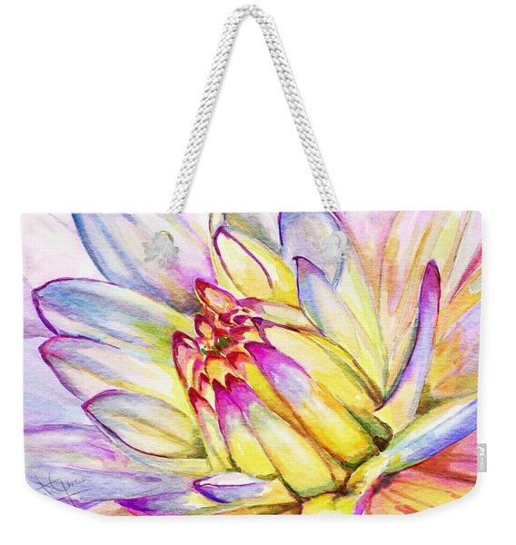 Morning Flower Weekender Tote Bag