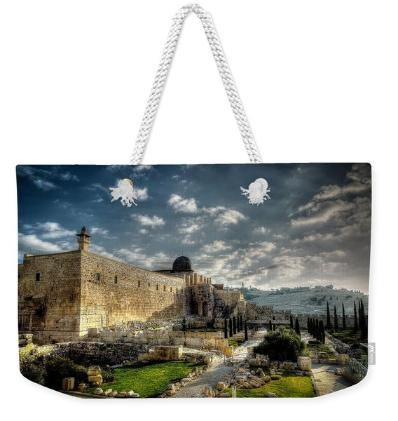 Morning In Jerusalem Hdr Weekender Tote Bag
