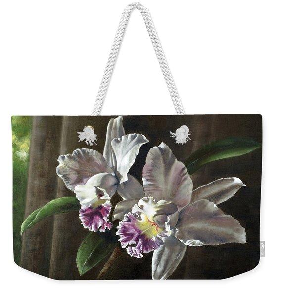Morning Cattelya Weekender Tote Bag