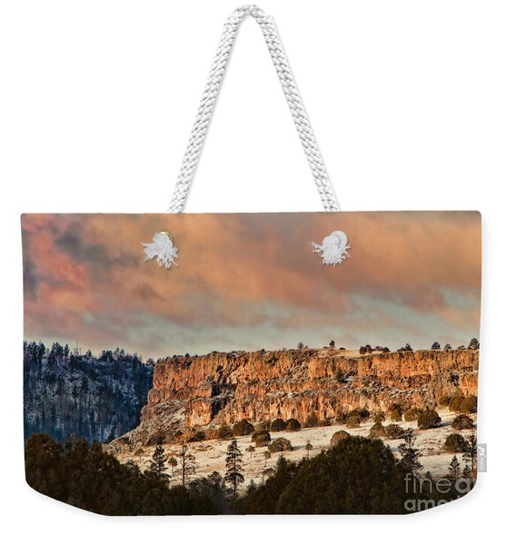 Morning Sun On The Ridge Weekender Tote Bag