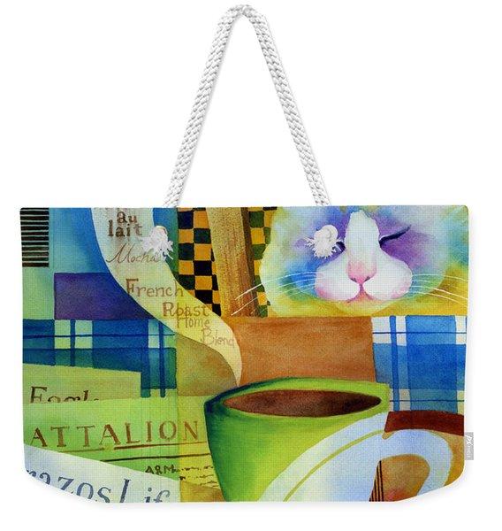 Morning Table Weekender Tote Bag