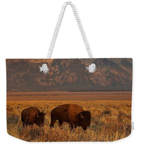 Morning Travels In Grand Teton Weekender Tote Bag