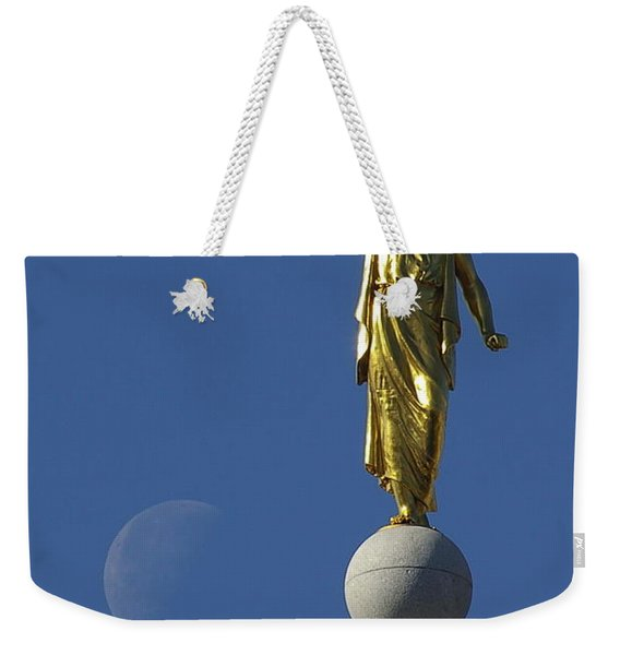 Moroni And The Moon Weekender Tote Bag