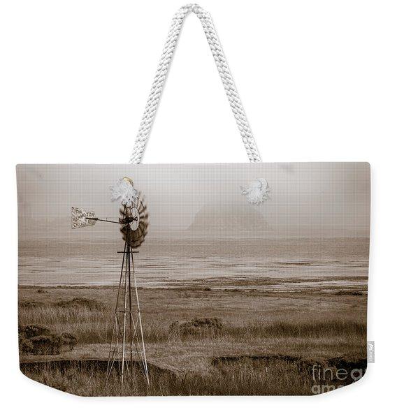 Morro Bay Windmill Weekender Tote Bag