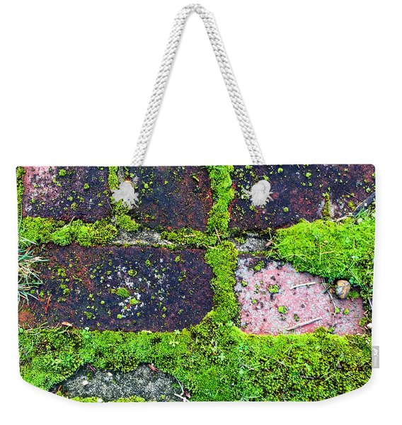 Moss Texture Abstract Weekender Tote Bag