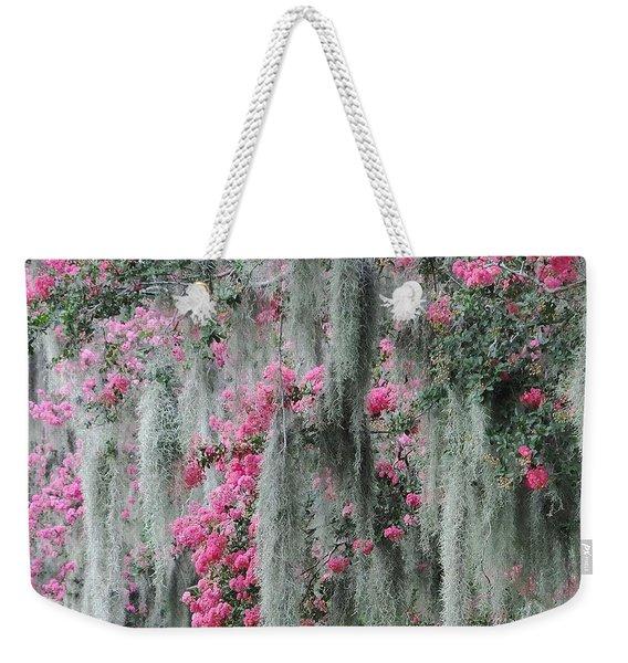 Mossy Crepe Myrtle Weekender Tote Bag