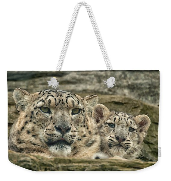 Mother And Cub Weekender Tote Bag
