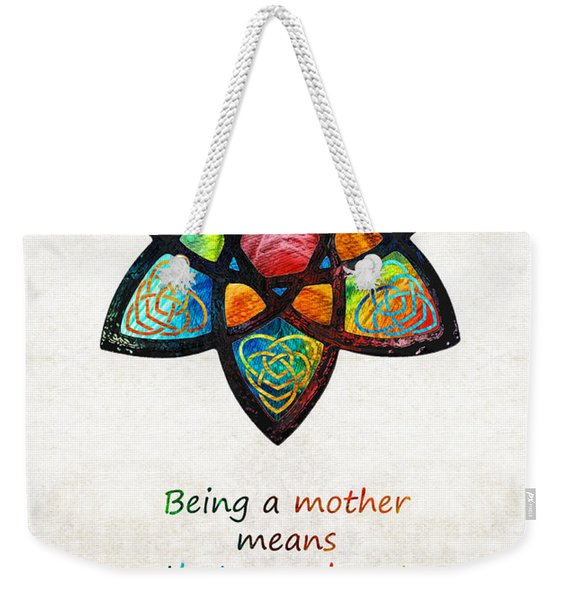 Mother Mom Art - Wandering Heart - By Sharon Cummings Weekender Tote Bag