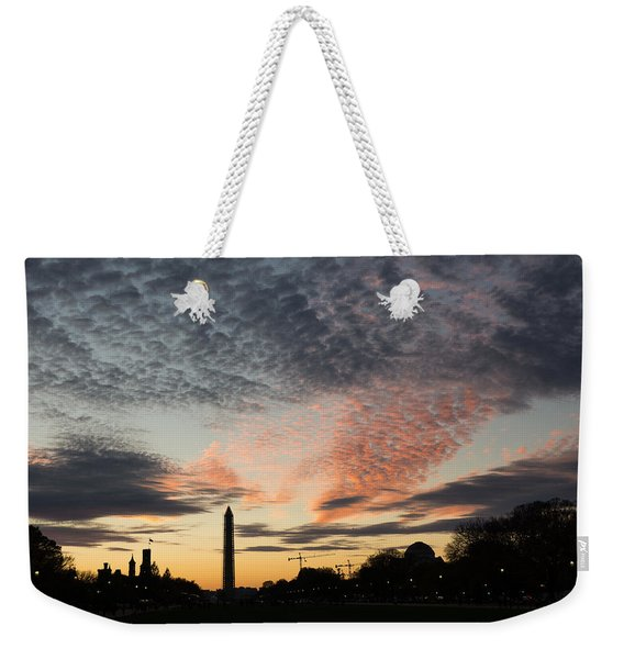 Mother Nature Painted The Sky Over Washington D C Spectacular Weekender Tote Bag