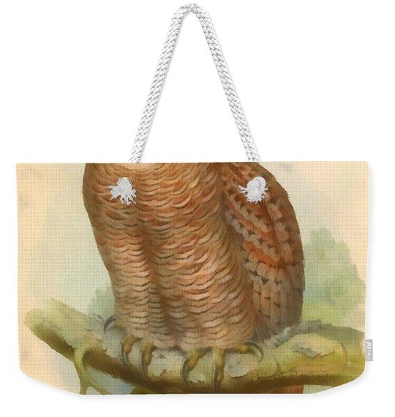 Mottled Wood Owl Weekender Tote Bag