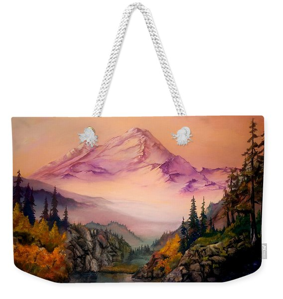 Mount Baker Morning Weekender Tote Bag