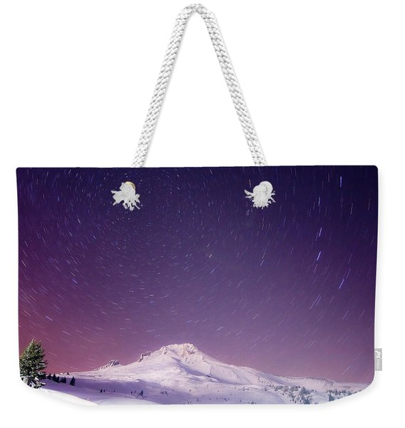 Mount Hood And Stars Weekender Tote Bag