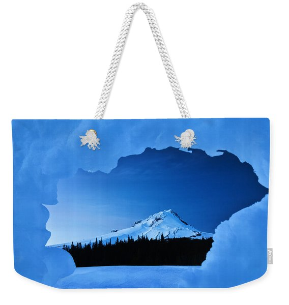 Mount Hood Blues Weekender Tote Bag