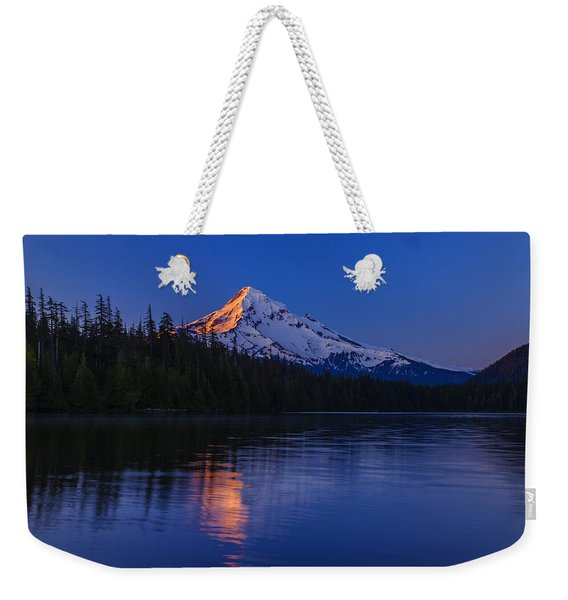 Mount Hood First Light Weekender Tote Bag