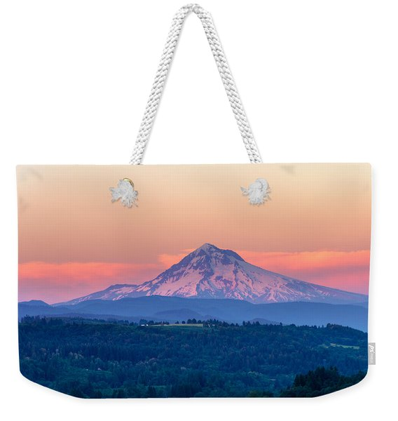 Mount Hood Sunset Closeup Weekender Tote Bag