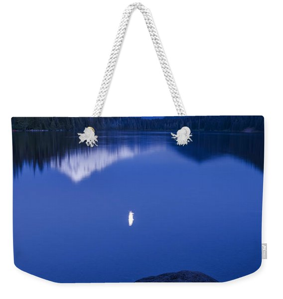 Mount Hood Under Moon Light Weekender Tote Bag